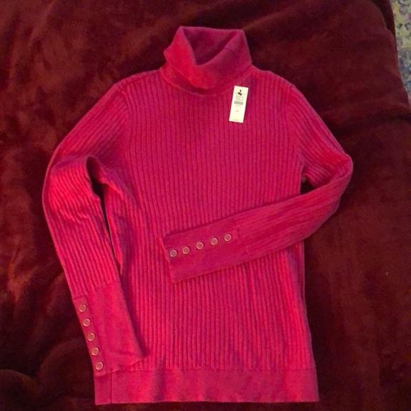 Talbots fuchsia sweater.
